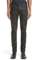 John Varvatos Men's Collection Skinny Fit Coated Jeans