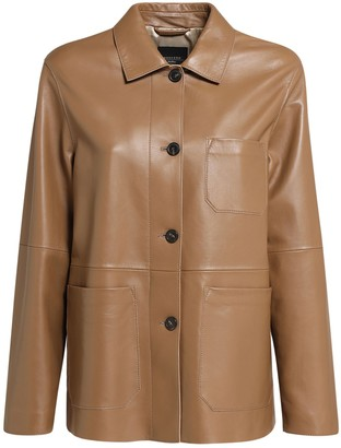 Max Mara Leather Jacket W/ Pockets
