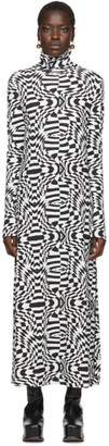 Lecavalier Black and White Print Long Dress