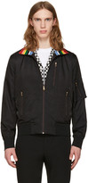 Paul Smith Black Striped Collar Bomber Jacket