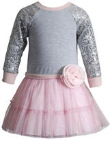 Sweet Heart Rose Sweetheart Rose Girls 2-6x Long Sleeve Knit Dress