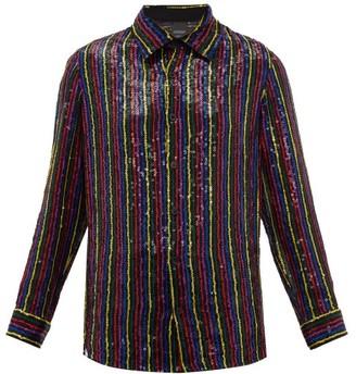 Ashish Sequin-embellished Chiffon Shirt - Black Multi