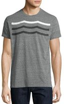 Sol Angeles Waves Crewneck T-Shirt, Gray
