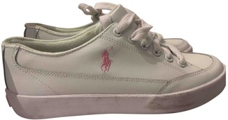 Polo Ralph Lauren White Leather Trainers