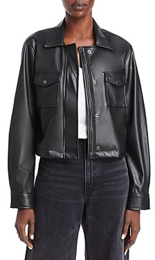 Velvet by Graham & Spencer Marilee Faux Leather Cropped Jacket - 100% Exclusive