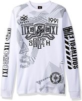 Southpole Men's Long Sleeve Thermal in Hd, Screen Print Graphic
