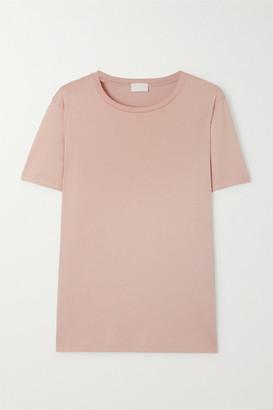 HANDVAERK Pima Cotton-jersey T-shirt - Pastel pink