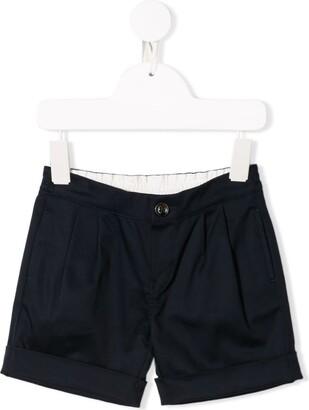 Gucci Kids rear logo pleated shorts