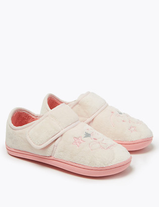 Marks and Spencer Kids Peppa Pig Riptape Slippers (5 Small - 12 Small)