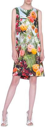 Akris Punto Cactus-Print A-Line Dress
