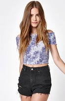 KENDALL + KYLIE Kendall & Kylie Smocked Off-The Shoulder Top