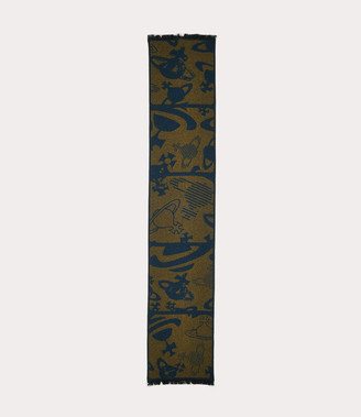 Vivienne Westwood Five In A Row Orbs Scarf Yellow