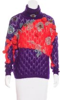 DELPOZO Mohair-Blend Embellished Sweater