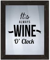 """PTM Images Wine O&Clock Framed Silkscreen Glass Wall Art - 21"""" x 17"""""""