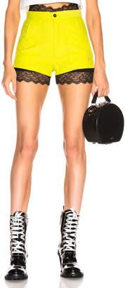 R 13 Corduroy Shorts in Lime | FWRD