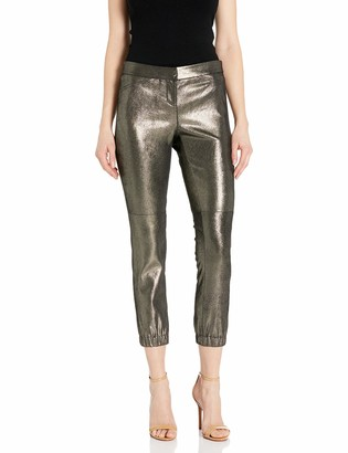 Halston Women's Metallic Suede Legging