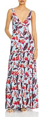 A.L.C. Rae Silk Printed Maxi Dress