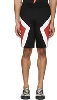 Neil Barrett Black Panelled Modernist Shorts