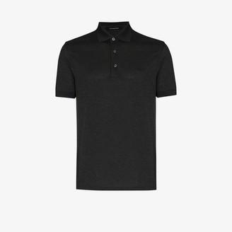Ermenegildo Zegna Mottled Jersey Polo Shirt