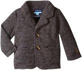 Andy & Evan Sweater Knit Blazer (Baby) - Grey - 3/6 - 3-6 Months