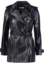 Tory Burch Erica Metallic Textured-Leather Jacket