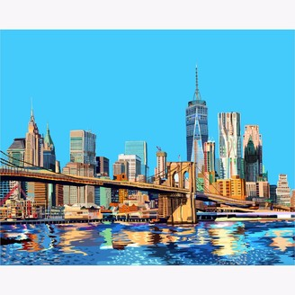 Tomartacus Brooklyn Bridge Manhattan New York City Print