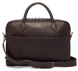 Métier Metier - Closer Smooth-leather Briefcase - Dark Brown