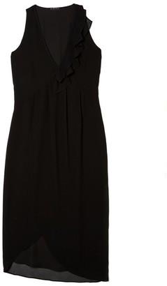 Sisley Women's Midi Asymmetric Hem Dress Party