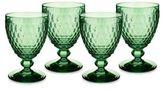 Villeroy & Boch Boston Green Crystal Goblets/Set of 4