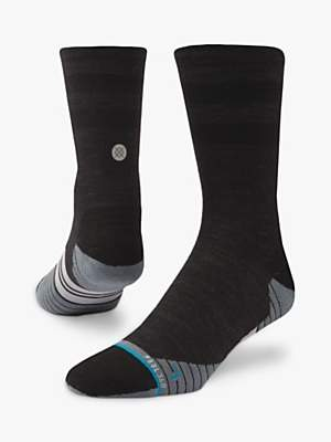 Stance Uncommon Solids Wool Crew Running Socks, Charcoal
