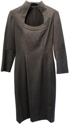 Alexander McQueen Grey Wool Dresses