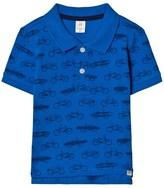 Gap Blue Bike Print Polo Shirt