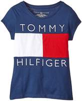 Tommy Hilfiger Pieced Flag Tee Girl's T Shirt