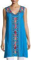 Johnny Was Rina V-Neck Embroidered Tunic, Plus Size