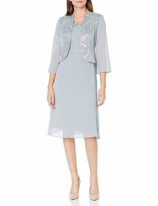 Le Bos Women's Embellished MESH Trim Jacket Dress