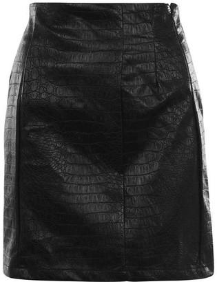NA-KD PU Mini Skirt