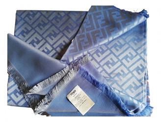 Fendi Blue Silk Scarves