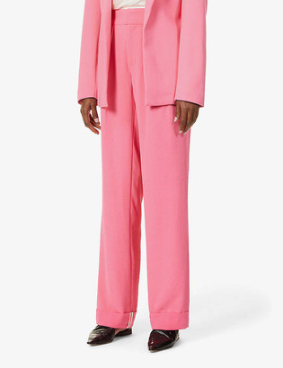 Maggie Marilyn Ill Be There By Your Side recycled polyester and organic cotton-blend trousers