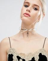 Asos Key Charm Bow Choker Necklace