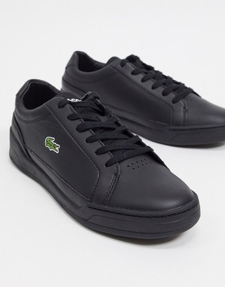 Lacoste challenge sneakers in black leather