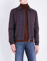 Brioni Wool and silk-blend bomber jacket