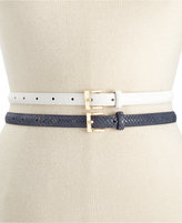 Style&Co. 2 For 1 Smooth Texture Belt