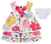 Catimini Floral Print Dress with Briefs