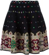 Alexander McQueen knitted cross stitch mini skirt - women - Silk/Polyamide/Polyester/Viscose - M