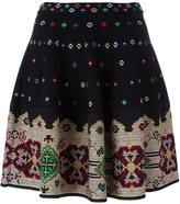 Alexander McQueen knitted cross stitch mini skirt