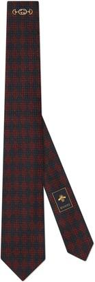 Gucci Interlocking G underknot silk tie