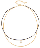 Jules Smith Designs Merci Crystal & Chain Choker Necklace