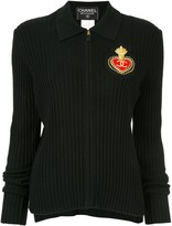 Chanel Pre Owned 1996 emblem zip-up polo shirt
