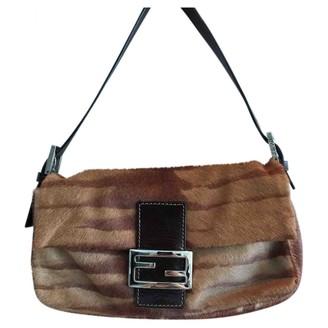 Fendi Baguette Brown Fur Handbags