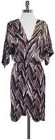 Tucker Mauve Black & White Silk Print Dress